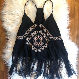 Tribal Fringe Crop Top